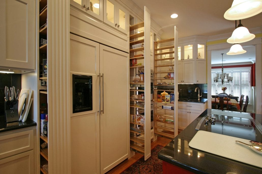 pullouts to organize your kitchen
