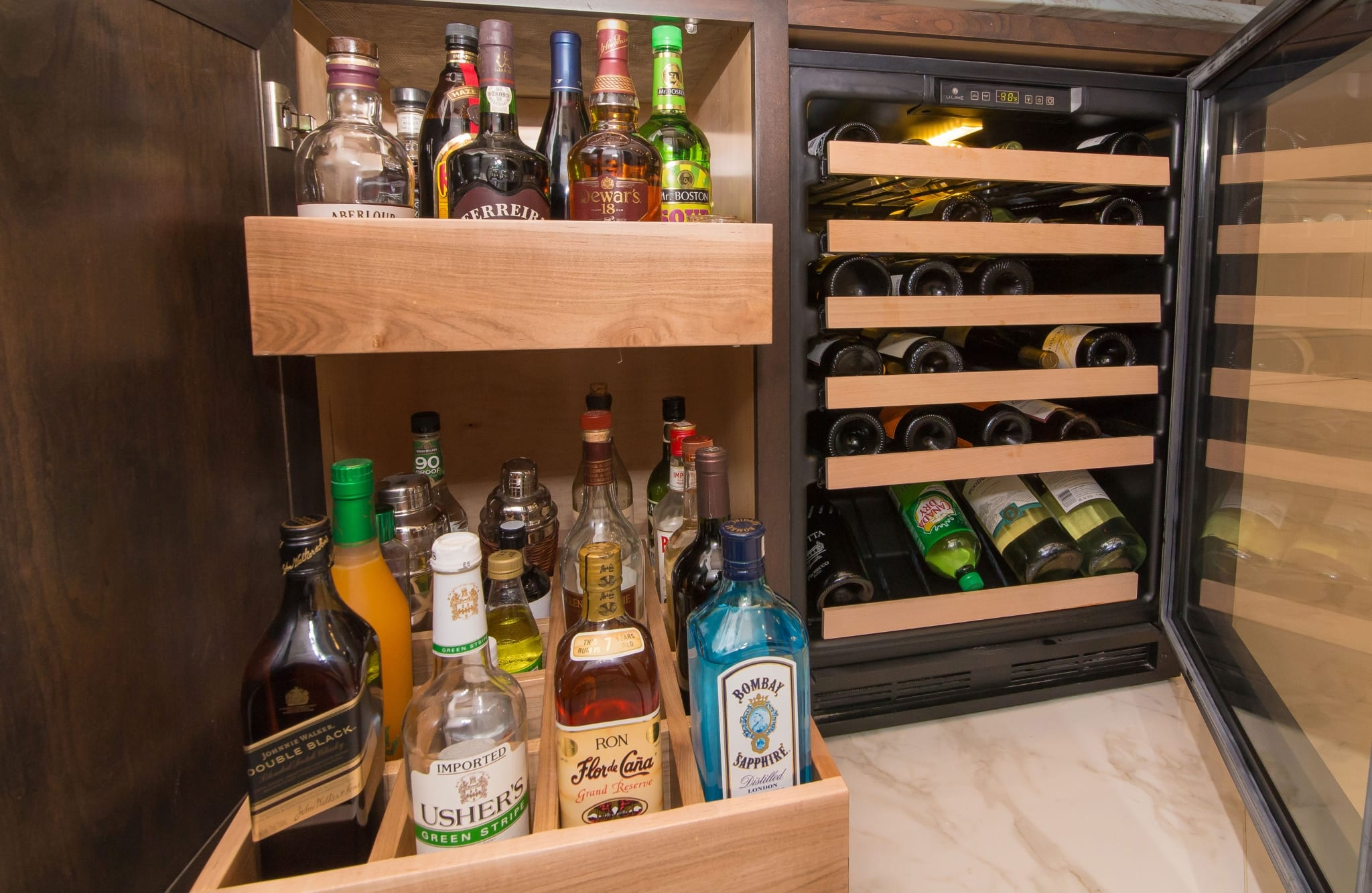 Liquor Cabinet Drawer Pullouts Greenbrook Design Center